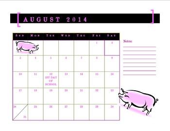 School Year Calendar - Farm