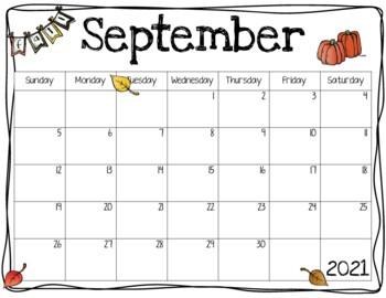 School Year Calendar Templates - Editable