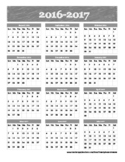School Year Calendar at a glance 2016-2017