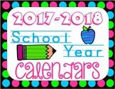 School Year Calendars 2017-2018