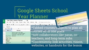 School Year Daily Lesson Planner
