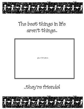 School Year Friends Frame/Saying