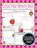 School Year Memory Book: Memory Book Pages for the Entire School Year
