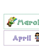School Year Month Labels Girl