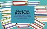 School Year Name Plates