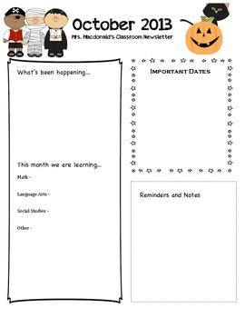 School Year Newsletter Set! - Completely Editable!