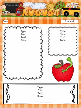 School Year Newsletters (editable templates)