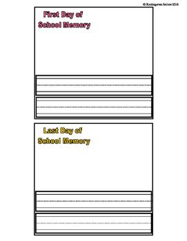 School Year Paper Bag Memories
