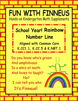 School Year Rainbow Number Line