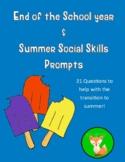 School Year Recap and Summer Social Skills Prompts