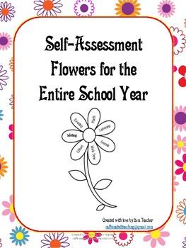 School Year Self-Assessment Flowers