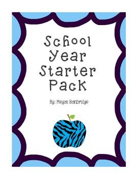 Zebra-Themed School Year Starter Pack (2nd Grade)