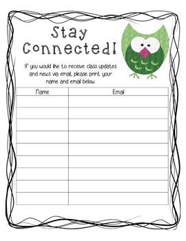 Owl-Themed School Year Starter Pack (Kindergarten)
