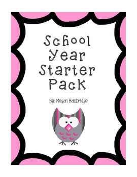 Owl-Themed School Year Starter Pack (Kindergarten)