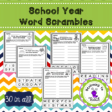 School Year Word Scrambles