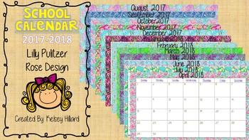 School Year calendar for 2017-2018 school year Different L