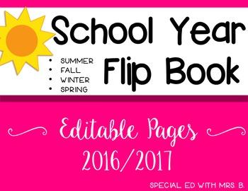 School Year flip book