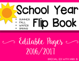 School Year flip book