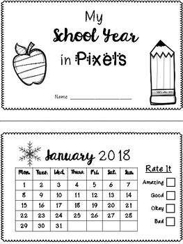 School Year in Pixels - Updates Each Year
