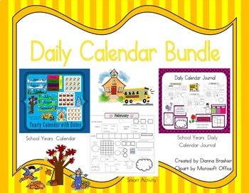 Daily Calendar Activities Journal Bundle