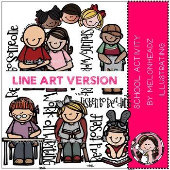School activity by Melonheadz LINE ART