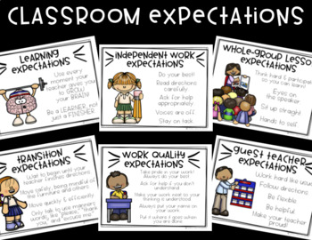 School and Classroom Expectations Posters!