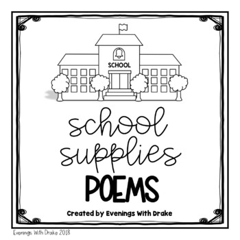 Shared Reading Poems for School Supplies