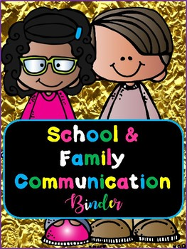 School and Family Communication Binder