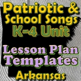 Patriotic Lesson Plan Template Bundle - Arkansas Elementary Music