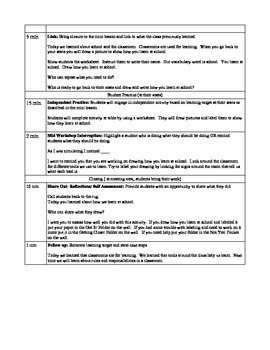 School and School Community Lesson Plan Lesson 2 Classrooms are For Learning