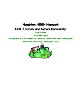 School and School Community Lesson Plan Skillbuilder Words for Where Lesson