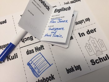 School and Subjects in German - Foldable Mini Booklet