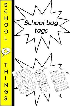 School bag tags