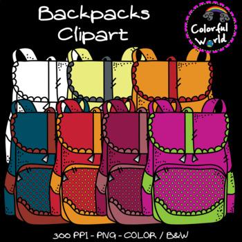 School bags clipart