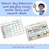 School behaviour expectations social story and reward chart.