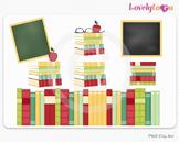 School books classroom clipart, PNG clip art (058)