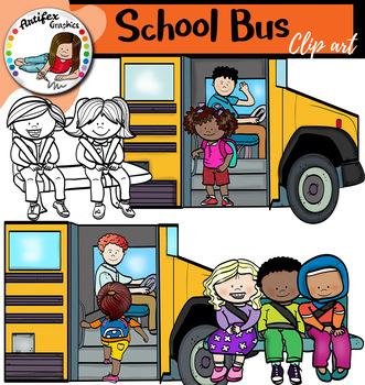 School bus clip art by Artifex | Teachers Pay Teachers