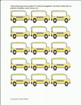School bus labels