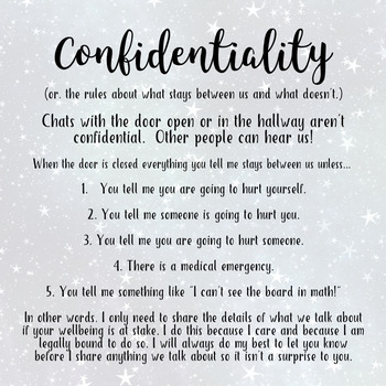 Back to School: Confidentiality Posters for the Trauma Informed School Counselor
