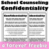 Free Trauma Informed School Counseling Confidentiality Posters
