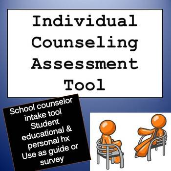 Counseling Intake Form Worksheets Teaching Resources TpT