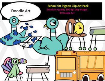 School for Pigeon Clip Art Pack