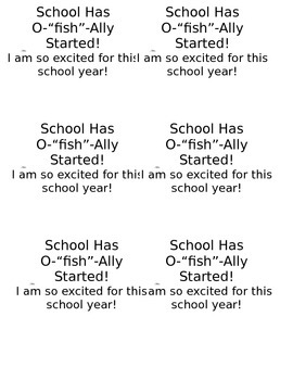 "School has O ""fish"" ally started label"