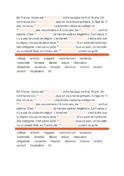 School in France / French schools