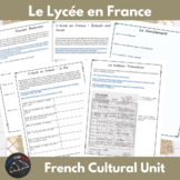 School in France - Internet activty packet