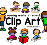 Wearing Masks at School Clip Art Collection