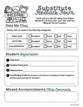 School is Back! Forms Pack- Teachers' Forms & Essentials for the School Year