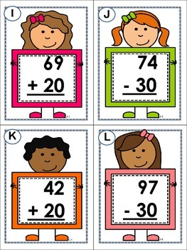 School is Cool- Addition and Subtraction with tens