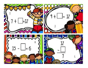 """School is Cool"" Algebraic Thinking Task Cards"