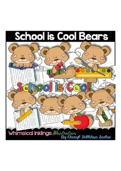 School is Cool Bears Clipart Collection